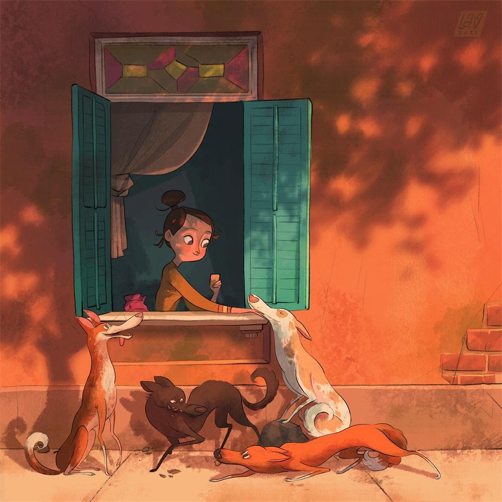 12张有趣和怀旧的童年插图设计