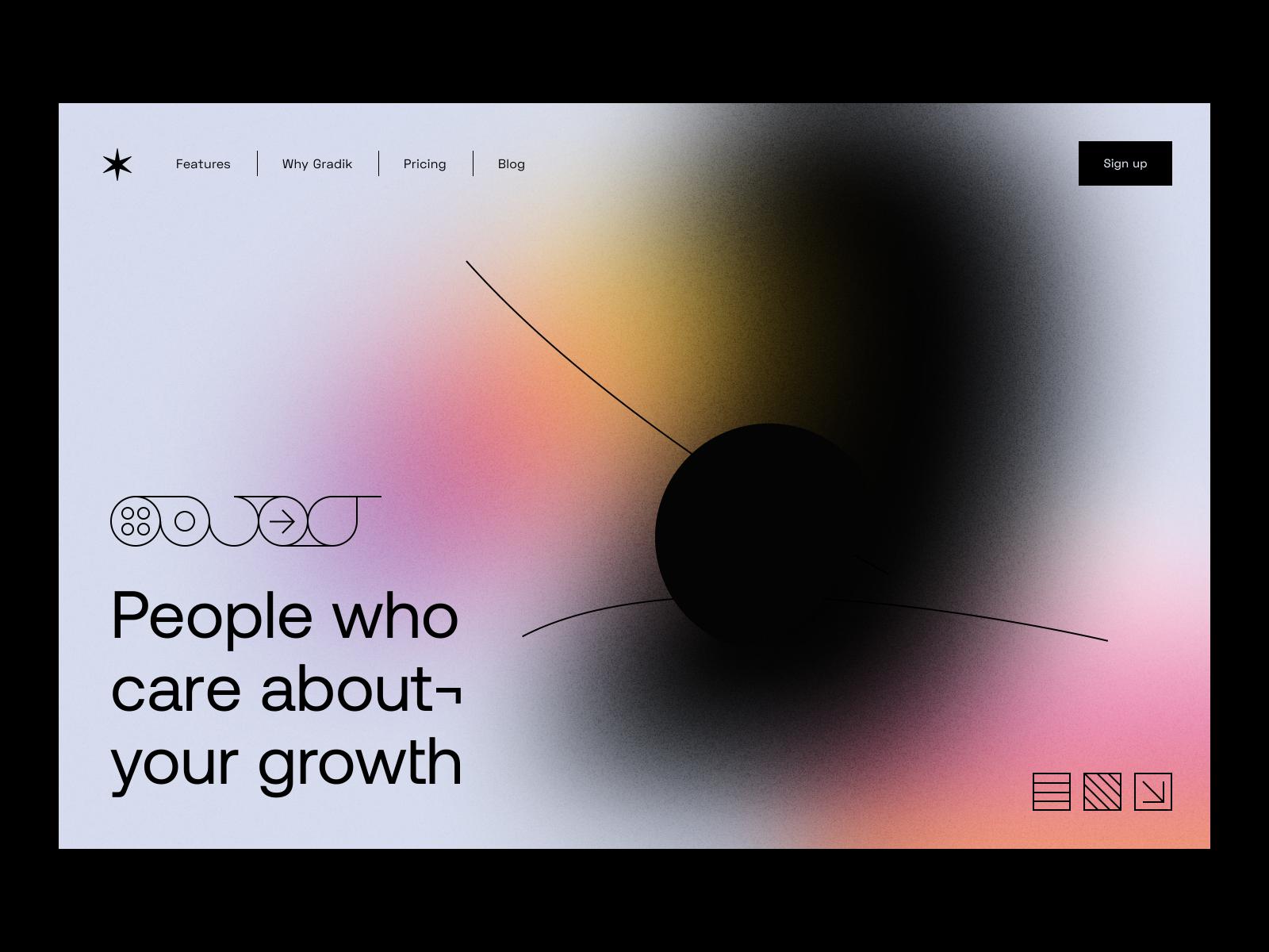 朦胧神秘的质感!弥散光在网页设计中的应用
