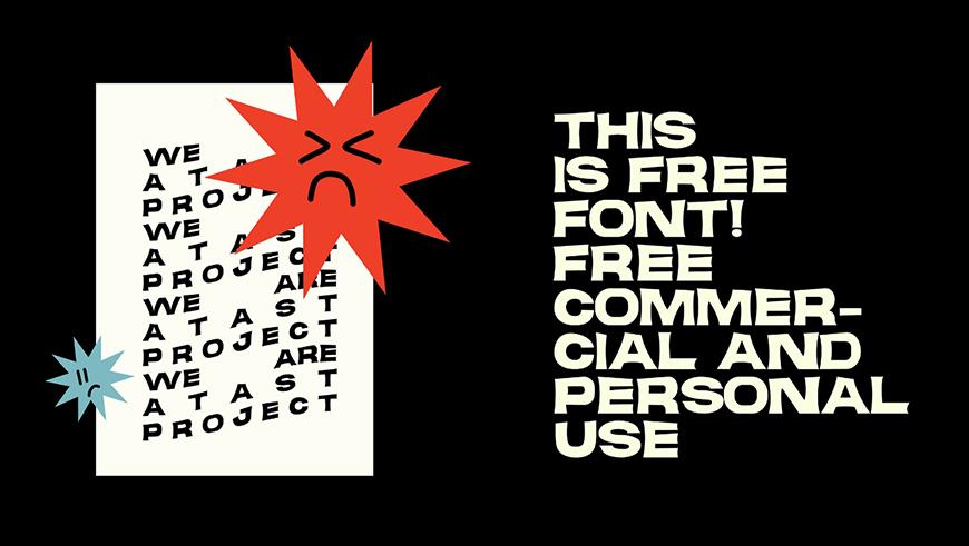 免费字体下载!一款夸张狂野复古气质的英文字体—JANGKUY