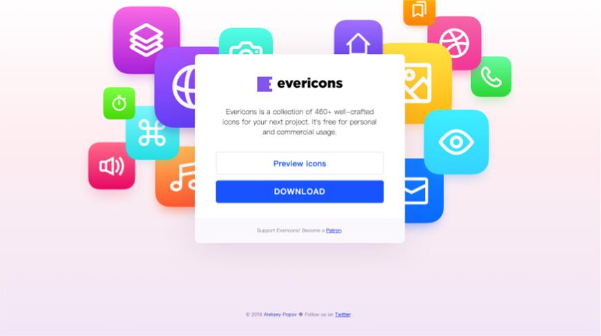 设计神器evericons!400+免费可商用的图标网站