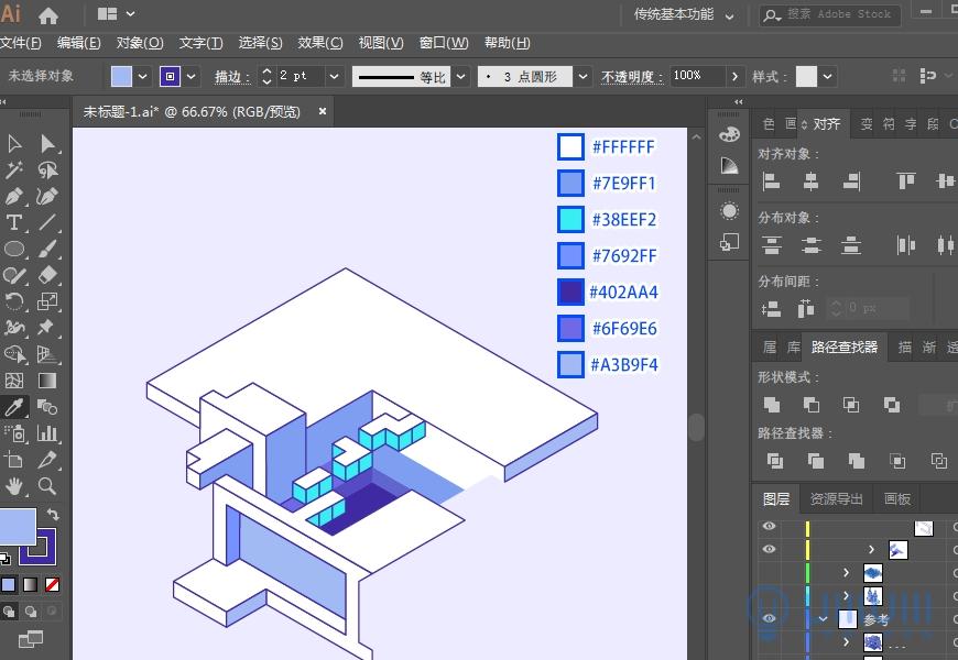 AI教程!从头教你画一幅卡通游戏风2.5D等距视角插画